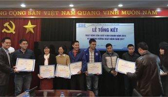 Trao thưởng cá nhân đạt chiến sỹ thi đua cấp cơ sở 2016