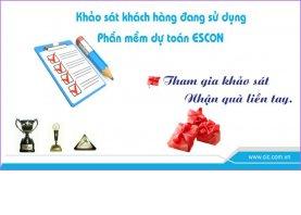 Khảo sát ý kiến khách hàng sử dụng phần mềm dự toán Escon
